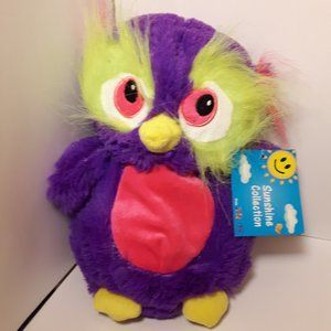 Sunshine Collection Neon Owl Plush 8 inches NWT